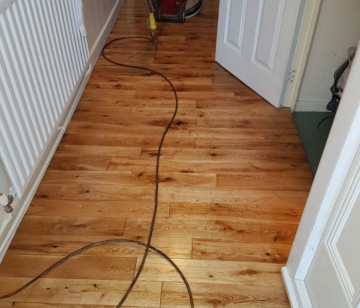 sanded oak floors